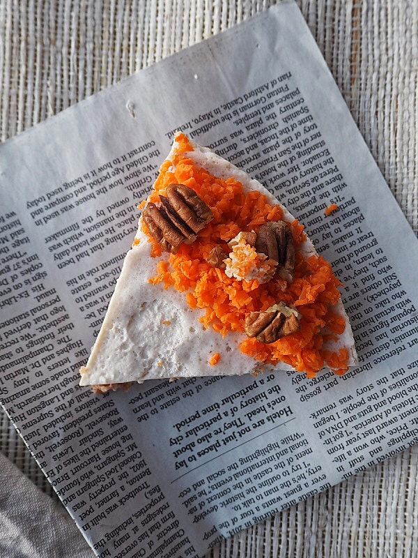 Raw Vegan Carrot Cake - Receta Crudivegana